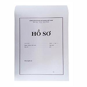 bìa hồ sơ xin việc trắng