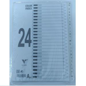 bìa phân trang nhựa 24 chữ cái