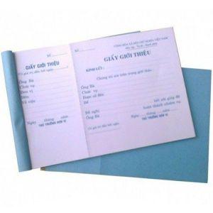giấy giới thiệu 1 liên 13x19cm