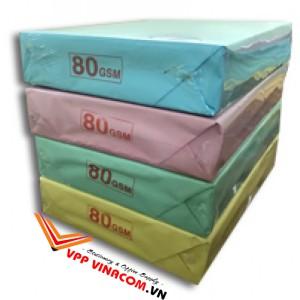 giấy màu A4 80gsm