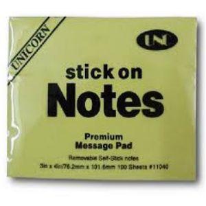 giấy note vàng 3x4 UNC