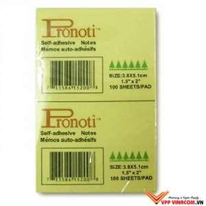 giấy note vàng Pronoti 3,8x5,1cm