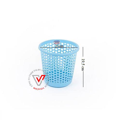 sọt rác nhựa tròn nhí