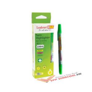bút dạ quang leaderart 108hl xanh lá